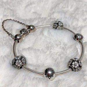 Authentic PANDORA Charm Bracelet Set